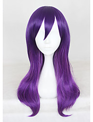 Недорогие -Парики из искусственных волос Парик Средние Фиолетовый Искусственные волосы Фиолетовый