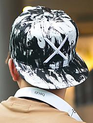 cheap -Unisex Cotton Baseball Cap Sun Hat-Patchwork Black