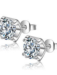 cheap -AAA Cubic Zirconia Stud Earrings Sterling Silver Earrings Jewelry Silver For Wedding Party Daily Casual