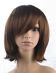 cheap -natural wave short bob side part bangs dark brown wig cosplay costume wigs hairstyle