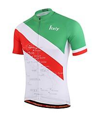 cheap -Miloto Men's Women's Short Sleeve Cycling Jersey Red / Green Geometic Bike Jersey Top Mountain Bike MTB Road Bike Cycling Sweat-wicking Sports Coolmax® Clothing Apparel / Stretchy