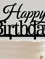 Недорогие -Украшения для торта Сад Азия Цветы Бабочки Классика Сказка Деревенская тема Акрил День рождения с 1 Подарочныйпакет