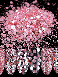 cheap -10ml nail glitter powder sequins rose pink paillette tips decoration 1 2 3mm