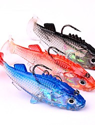 cheap -3 pcs Fishing Lures Soft Bait Jigs Jig Head Sinking Bass Trout Pike Sea Fishing Bait Casting Spinning Soft Plastic Lead Silicon / Jigging Fishing / Freshwater Fishing / Bass Fishing / Lure Fishing