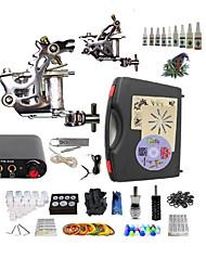 Недорогие -BaseKey Татуировочная машина Набор для начинающих - 2 pcs татуировки машины с 10 x 5 ml татуировки чернила Mини источник питания Чехол в комплекте 1 х Роторная тату-машинка для контура и заливки, 1