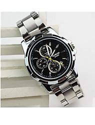 cheap -Men's Sport Watch Quartz / Stainless Steel Band Vintage Black White