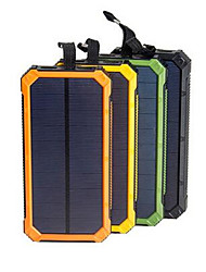 cheap -Solar Power Bank Waterproof 16000mAh Solar Charger Dual USB Ports External Charger Powerbank for Smartphone with LED Light