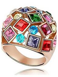 cheap -Statement Ring Cubic Zirconia Golden Zircon Alloy Ladies Fashion Colorful / Women's