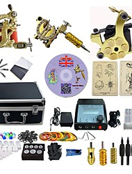 cheap -BaseKey Professional Tattoo Kit Tattoo Machine - 3 pcs Tattoo Machines, Professional Alloy 20 W LED power supply 3 alloy machine liner & shader / Case Included