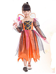 cheap -Princess Cinderella Pumpkin Cosplay Costume Party Costume Kid's Christmas Halloween Carnival Festival / Holiday Polyester Carnival Costumes Patchwork