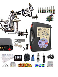 cheap -BaseKey Tattoo Machine Starter Kit, 2 pcs Tattoo Machines with 10 x 5 ml tattoo inks - 2 steel machine liner & shader