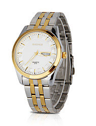 cheap -Men's Sport Watch Fashion Watch Dress Watch Quartz Casual Calendar / date / day Multi-Colored Analog - Gold / Shock Resistant / Large Dial