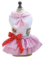 cheap -Dog Dress Dog Clothes Blue Pink Costume Cotton Sailor Classic Fashion XS S M L XL