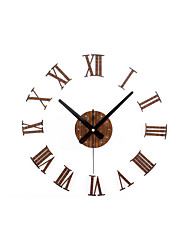 cheap -Casual / Modern Contemporary / Office / Business Wood / Metal Round Novelty / Holiday / Inspirational Indoor / Outdoor AA Decoration Wall Clock Analog Others No
