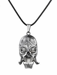 cheap -Men's Women's Pendant Necklace Logo Mexican Sugar Skull Skull Unique Design Dangling Alloy Bronze Silver Necklace Jewelry For