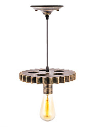 Недорогие -винтажная деревянная экипировка лофт подвеска огни творческая промышленная мини-лампа гостиная комната ресторан бары одежда магазин свет