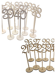 cheap -Table Number Cards Wood Wedding Decorations Birthday / Engagement / Wedding Party Beach Theme / Garden Theme Spring / Summer / Fall