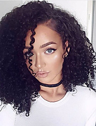 cheap -Synthetic Lace Front Wig Kinky Curly Synthetic Hair Black Wig Women's Short Lace Front