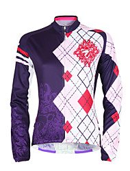 cheap -TASDAN Women's Long Sleeve Cycling Jersey Plus Size Bike Jersey Top Mountain Bike MTB Road Bike Cycling Breathable Quick Dry Ultraviolet Resistant Sports Winter 100% Polyester Clothing Apparel