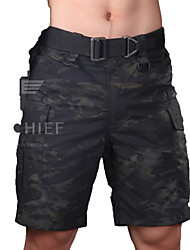 cheap -Men's Bremuda Shorts Outdoor Tactical Waterproof Windproof Breathable Shorts Bottoms Hunting Leisure Sports Military / Tactical Dark Black M L XL XXL
