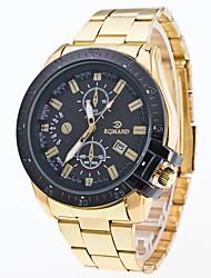 cheap -Men's Sport Watch Wrist Watch Quartz Multi-Colored Large Dial Analog Charm Fashion Dress Watch - White Black Blue