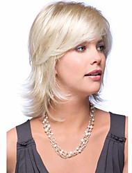 cheap -Synthetic Hair Wigs Curly Capless Natural Wigs Medium Blonde