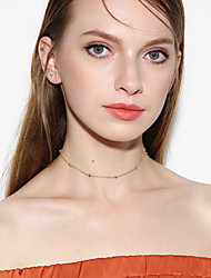 cheap -Women's Crystal Choker Necklace Single Strand Personalized Basic Simple Style Fashion Crystal Acrylic Copper Gold Silver Necklace Jewelry For Business Gift Daily Casual Sports Outdoor