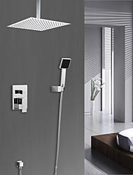 Недорогие -Смеситель для душа - Ар деко / Ретро Хром Душевая система Керамический клапан Bath Shower Mixer Taps / Латунь / Одной ручкой четыре отверстия