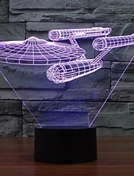abordables -7 changement de couleur des lumières battleship star trek 3d coloré conduit lumières décoratives lumières de l'interrupteur tactile