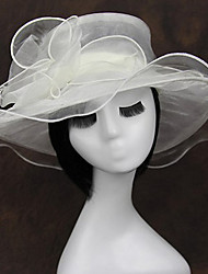 cheap -Chiffon / Fabric / Organza Fascinators / Headwear with Floral 1pc Wedding / Special Occasion / Casual Headpiece