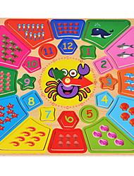 Недорогие -Игрушки для обучения математике Деревянные часы Обучающая игрушка Часы Образование Мультяшная тематика Мальчики Девочки Игрушки Подарок