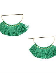 cheap -Women's Drop Earrings Tassel Personalized Unique Design Tassel Fashion Earrings Jewelry Beige / Green For Wedding Party Daily Casual Sports