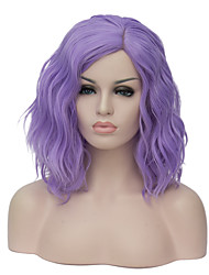 cheap -Synthetic Wig Wig Short Purple Synthetic Hair Women's Purple