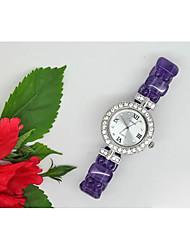 Недорогие -Жен. Модные часы Кварцевый Глубокий зеленый Фиолетовый Аналоговый Лиловый