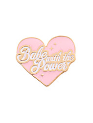 cheap -Women's Girls' Brooches Heart Love Heart Friendship Cute Brooch Jewelry Light Pink For Wedding Party Special Occasion Daily Casual