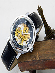 cheap -Men's Fashion Watch Quartz Casual Analog Black / Gold Black / Blue Rose Gold / Leather