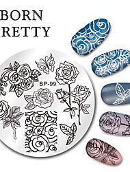 cheap -1 pcs Stamping Plate nail art Manicure Pedicure Fashion Daily / Steel