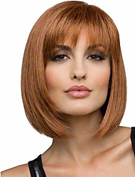 cheap -popular brown color straight wigs european synthetic wigs