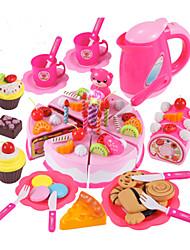 Недорогие -Игрушка кухонные наборы Игрушечная еда Ролевые игры Торты Формы для нарезки печенья и тортов ПВХ Детские Мальчики Девочки Игрушки Подарок