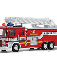 cheap -1:32 Plastic Train Fire Engine Vehicle Toy Truck Construction Vehicle Toy Car Simulation Train Fire Engine Kid's Car Toys / 14 Years & Up