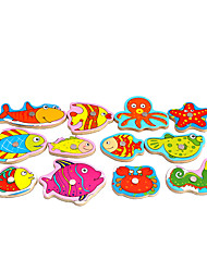cheap -Danniqite Building Blocks Jigsaw Puzzle Fishing Toy Paternity Game Construction Set Toys Educational Toy Fish Magnetic Unisex Boys' Girls' Toy Gift