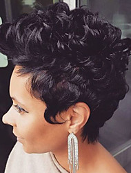 cheap -Human Hair Curly / Classic Short Hairstyles 2019 Halle Berry Hairstyles Machine Made Wig Daily
