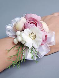 abordables -Fleurs de mariage Bouquets / Petit bouquet de fleurs au poignet / Autres Mariage / Fête / Soirée Matière / Dentelle / Satin 0-20cm