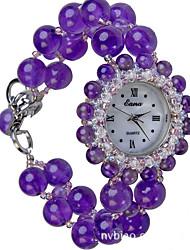 cheap -Women's Fashion Watch Quartz Jade Purple Analog Purple