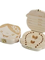 Недорогие -1 шт. Дерево девочка мальчик зубной органайзер сохранить молочные зубы хранение собирать зубы подарок пуповина lanugo creative для малыша мальчик девочка