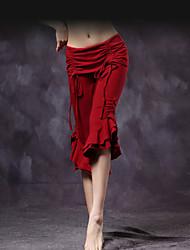 cheap -Belly Dance Bottoms Women's Training Cotton Draping / Cascading Ruffle Dropped Pants