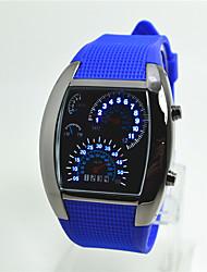 Недорогие -Муж. Модные часы электронные часы Цифровой силиконовый Группа Повседневная Белый Синий
