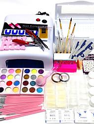 cheap -52pcs-sets-disinfection-tool-box-818-uv-lamp-200-pcs-nail-tips-15pcs-pens-display-stand-nail-kit-nail-art-decoration-type-style-nail-art-diy