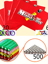 Недорогие -Магнитная игрушка Магнитные палочки Конструкторы Магнитный блок Playsets автомобиля Магнитные плитки Игрушки Магнитный Универсальные