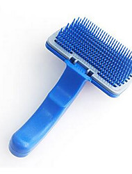 cheap -Cat Dog Brushes Grooming Hair Removal Product Shedding Tools Plastic Comb Brush Portable Pet Grooming Supplies Blue 1 Piece